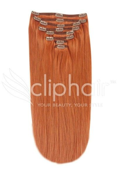 546 best cliphair canada images on pinterest hairstyles hair 20 inch full head remy clip in human hair extensions ginger rednatural red real hair extensions pmusecretfo Image collections