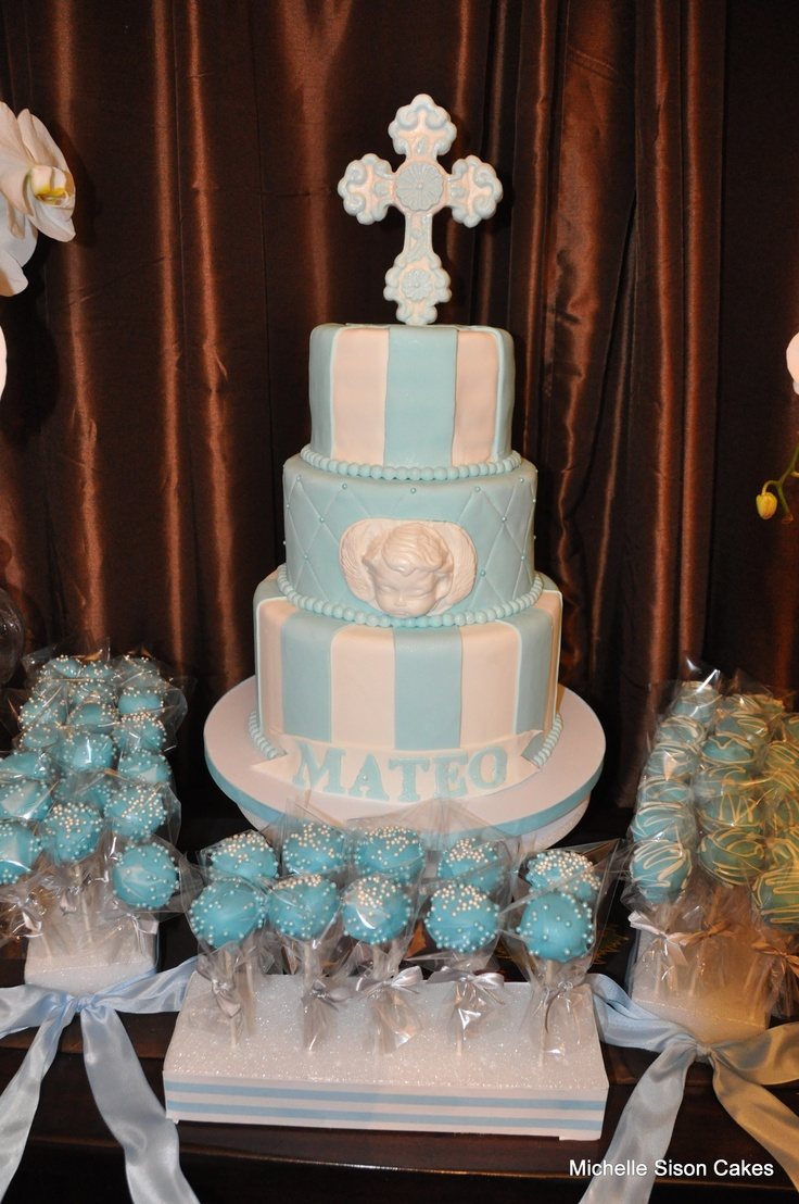 Cake Table Ideas For Christening : 25+ great ideas about Christening dessert table on Pinterest