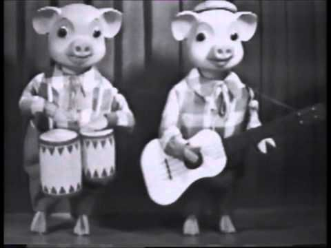 Pinky and Perky (On Crackerjack) early 60's. (You may have to type it in the search).
