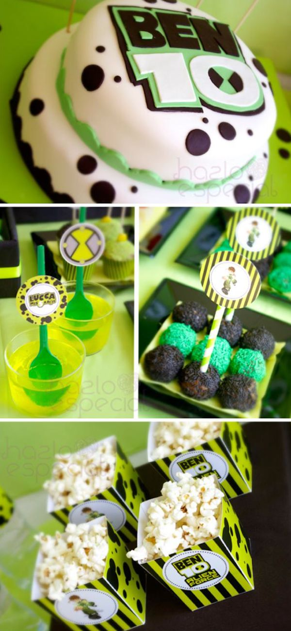 Ben 10 Alien themed birthday party via Karas Party Ideas KarasPartyIdeas.com @Lee Baker