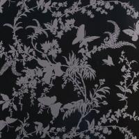 Florence Broadhurst Tropical Floral Black Pearl Wallpaper