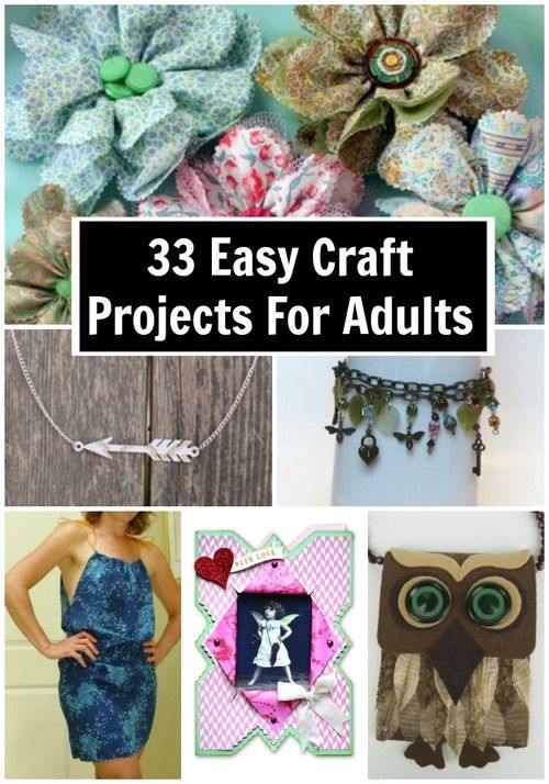 44 easy craft projects for adults crafts projects and