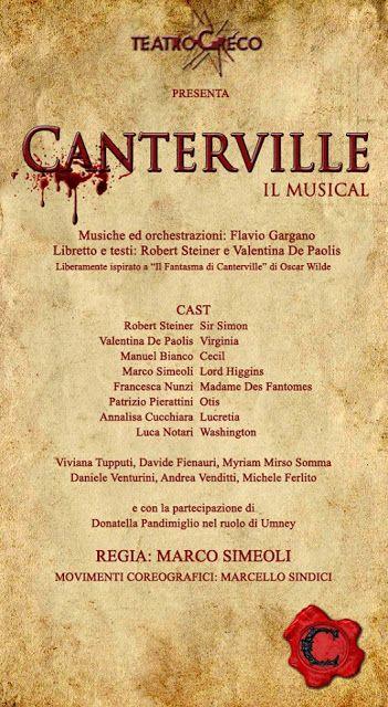 Riflettori su...di Silvia Arosio: Canterville il Musical: in assoluta anteprima, tut...