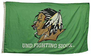 University of North Dakota Fighting Sioux 3 x 5 Feet Horizontal Flag