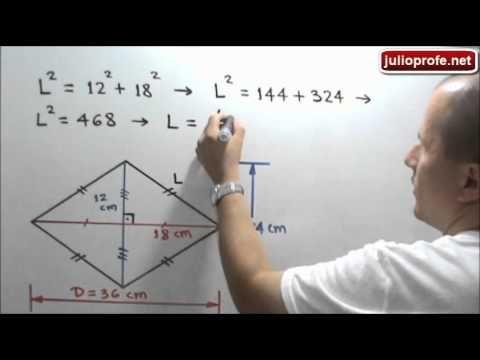 Área y perímetro de un rombo: Julio Rios explica cómo determinar el área y el perímetro de un rombo si se conocen las medidas de sus diagonales