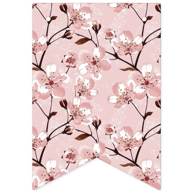 Cherry Blosom Mothers Day Banner Personalized Party Backdrop