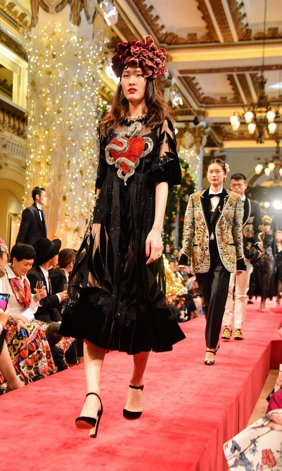 Domenico Dolce and Stefano Gabbana marked a double of firsts for the fashion house they founded 31 years ago: They held their first ever coed show, and that show was their first ever outside Italy.