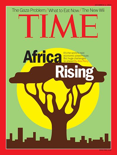 TIME Cover: Africa Rising Betcha FNB LOVE this cover, it's almost their logo.