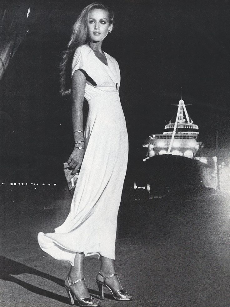 Jerry Hall by Helmut Newton for Vogue, January 1975