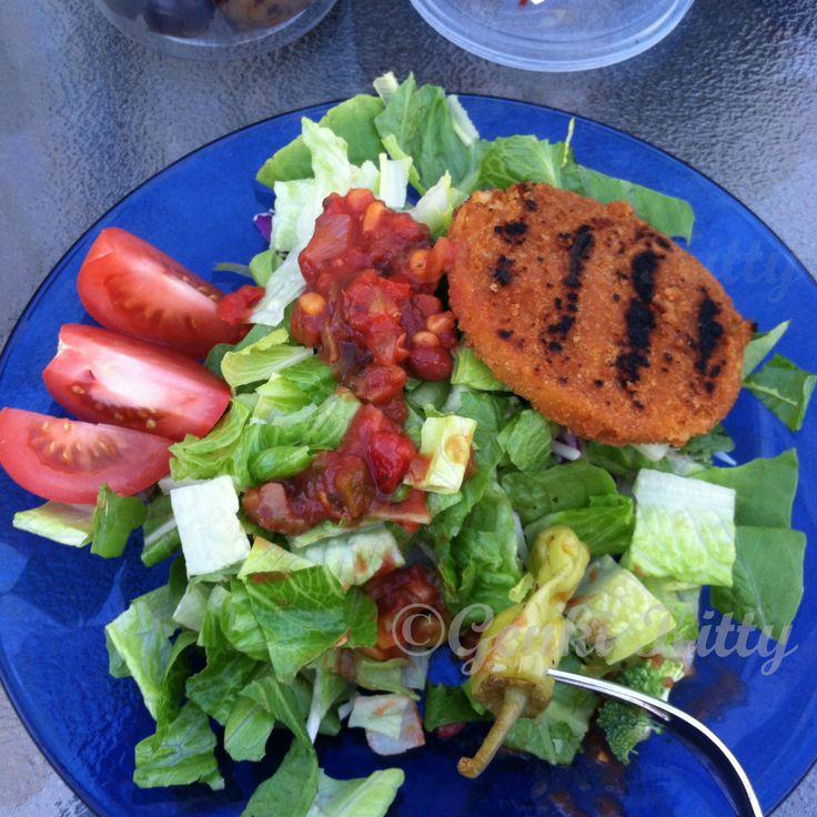 Vegan boca chickenless dinner