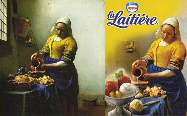 Quand la pub détourne l'art | La laitière, Art, Publicité