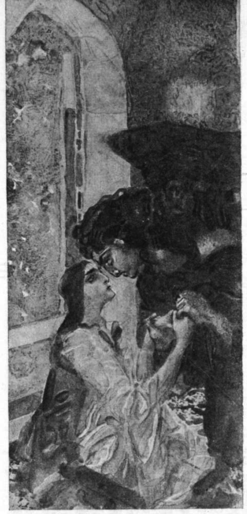 Михаил Врубель - Демон и Тамара. 1890