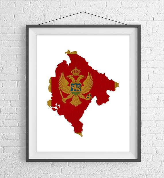 Montenegro Flag Map Print-  https://www.etsy.com/listing/524016114/montenegro-flag-map-print-montenegro-map?ref=shop_home_active_11 -Montenegro Silhouette, Housewarming Gift, Vintage Flag Poster, Map Wall Art, Map of Montenegro