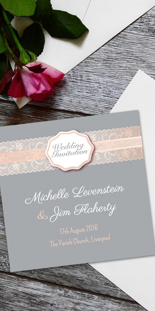 online wedding invite sites%0A Personalised Online Wedding Invitation  Grey Lace Design  weddingideas   weddinginvites  weddinginvitations
