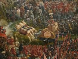 Battle of Issus - Darius formed his line with his heavy cavalry concentrated next to the coast on his right, followed by the Greek mercenary phalanx (historian A. M. Devine places them at a strength of 12,000, comparable to Alexander's Greek phalanx)