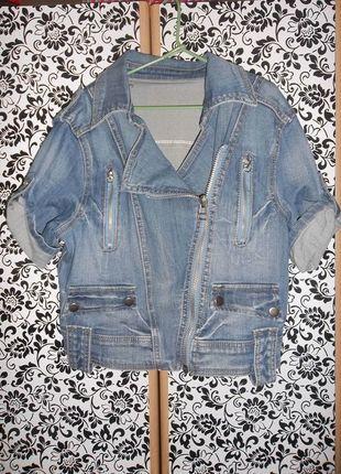Kup mój przedmiot na #vintedpl http://www.vinted.pl/damska-odziez/kurtki/9504212-jeansowa-ramoneska-z-krotkim-rekawem