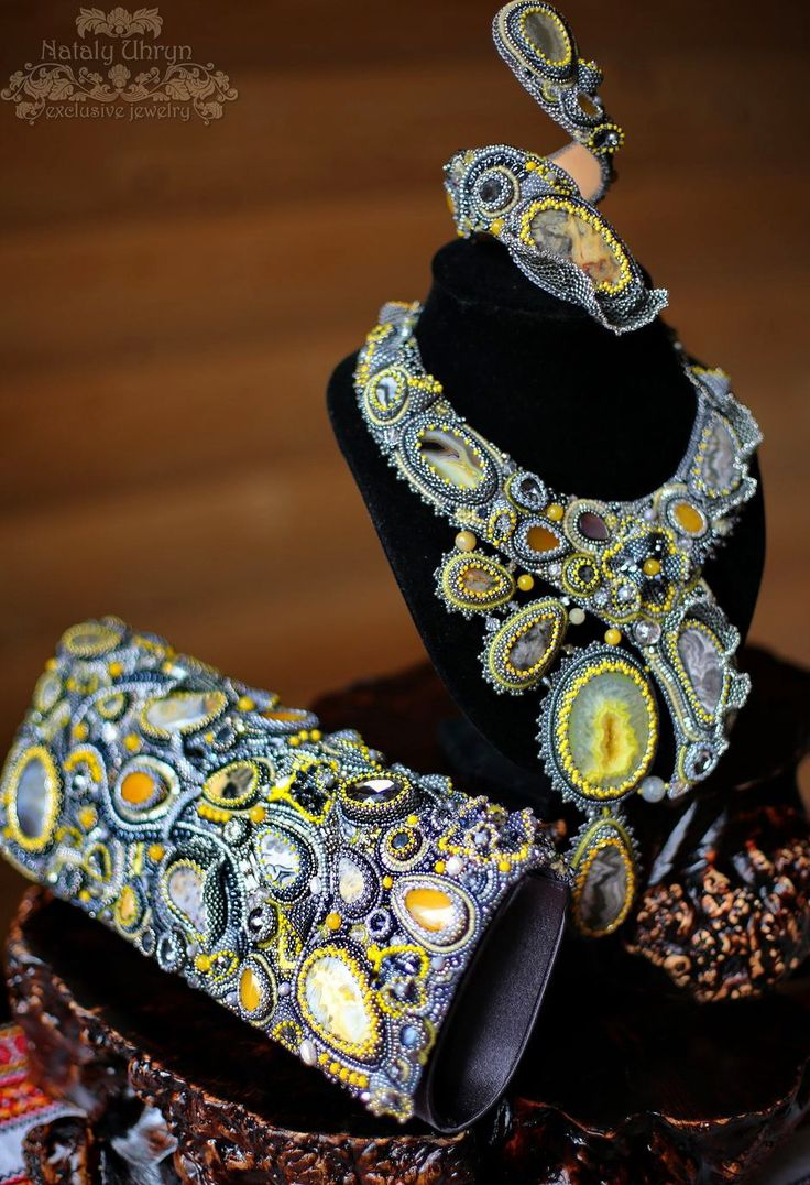 Beautiful embroiderd jewelry by Nataly Uhrin (Part 6)