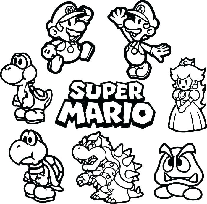 Pin By Natalia Sole On Per Pintar Super Mario Coloring Pages Mario Coloring Pages Super Coloring Pages