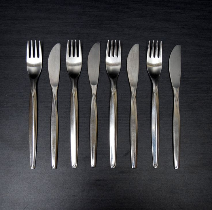 76 best images about flippin 39 for flatware on pinterest flatware danish modern and soups - Contemporary stainless flatware ...