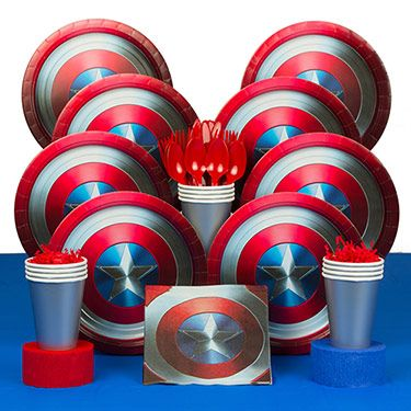 Search the popular Captain America party supplies & balloons, invitations, favors and decorations for Themed Tableware themed parties and save with our low wholesale prices!