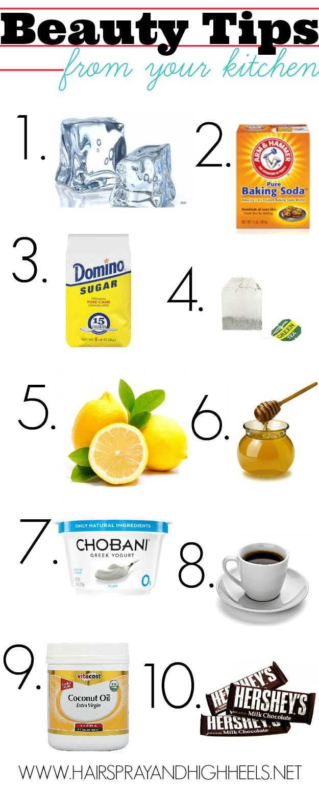 Beauty Tips Straight From Your Kitchen! Did you know that some of the most effective products for your beauty routine can be found right in your kitchen? #diy #beauty #beautytips