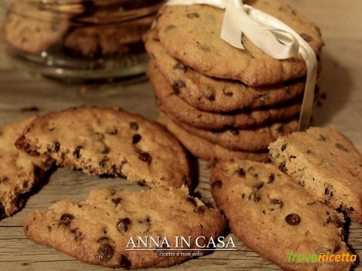 Biscotti al burro di arachidi e gocce di cioccolato  #ricette #food #recipes