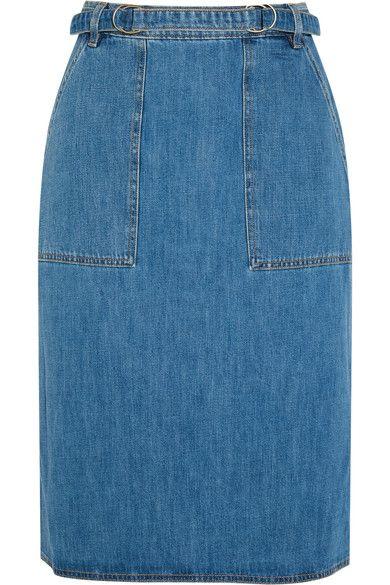 M.i.h Jeans - Juno Belted Denim Skirt - Mid denim - small