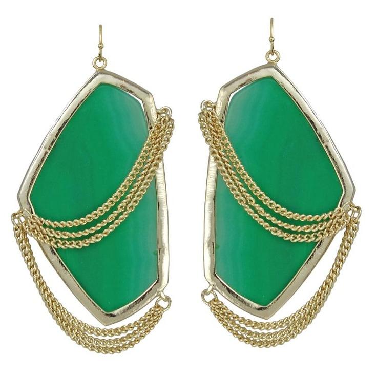 Kendra Scott Kavita Green Onyx Earrings