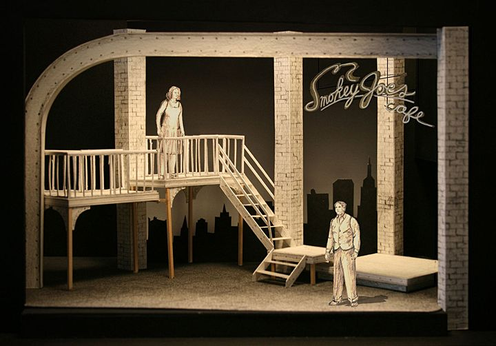like the interplay of background and foreground elements here // Smokey Joe's Cafe : White Model