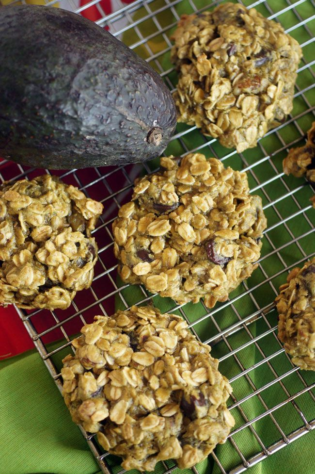 You need to ask yourself one question...  Why HAVEN'T I been putting avocado in my baked goods?!    Oatmeal Avocado Chocolate Chip Cookies!