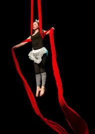 So talented! RUCCIS Circus troupe performer on silks