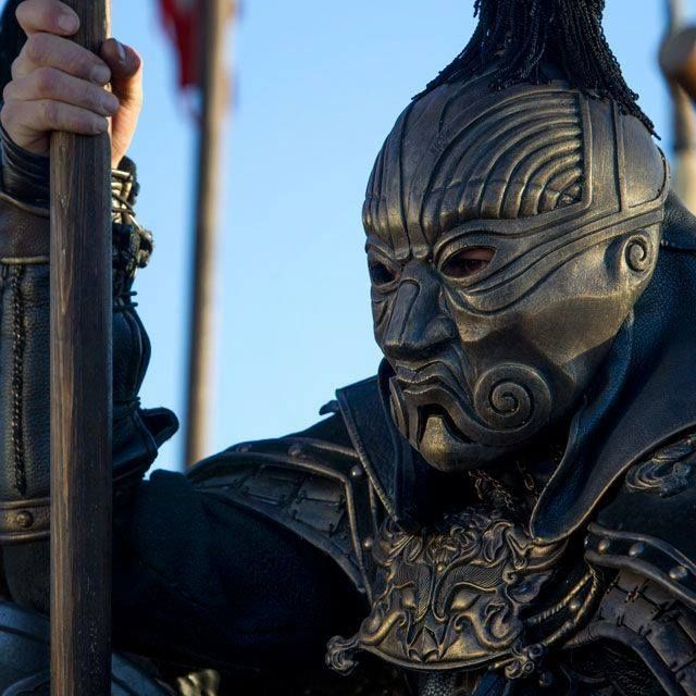 "Amazing warrior mask costume for Kublai Khan from ""Marco Polo"""