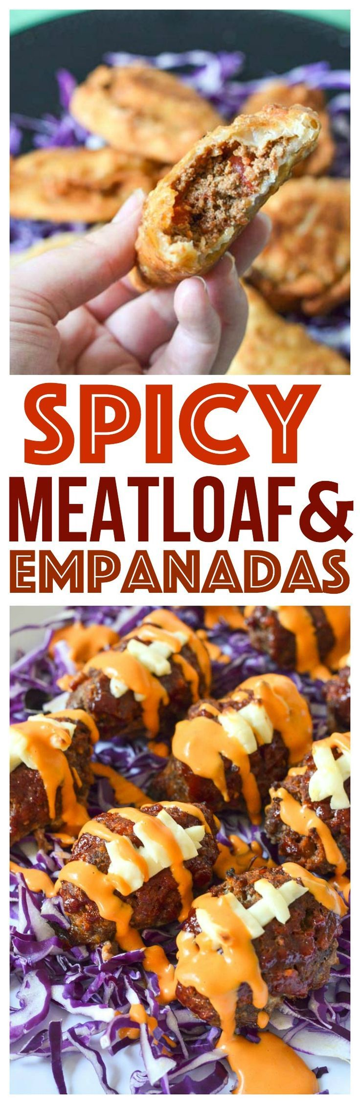 simple spicy meatloaf recipes easy game day appetizers football shaped food easy empanadas recipe party food ideas quick and easy meals via @CourtneysSweets