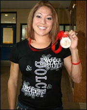 Priscilla Lopes-Schliep  Olympic Bronze Medalist in Hurdling    Born on August 26, 1982 in Toronto to John and Sharon Lopes, who immigrated to Canada from Guyana. She is a Canadian hurdler in track and field athletic competition. Lopes-Schliep won a Bronze Medal at the 2008 Summer Olympics in women's 100m hurdles. It was the first medal for Canada in Athletics at the Summer Olympics since the 1996 Games and the first medal for a Canadian woman in Olympic track and field since the 1992 Games.