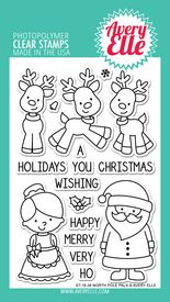 North Pole Pals clear stamps by Avery Elle.