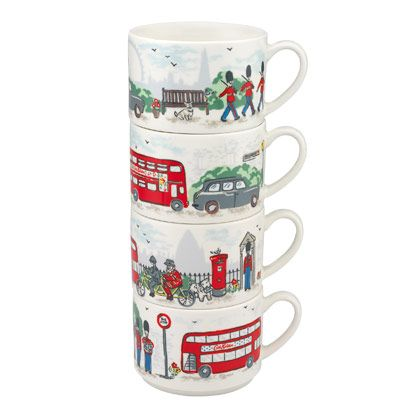 London Streets Stack of Mugs | Cath Kidston |