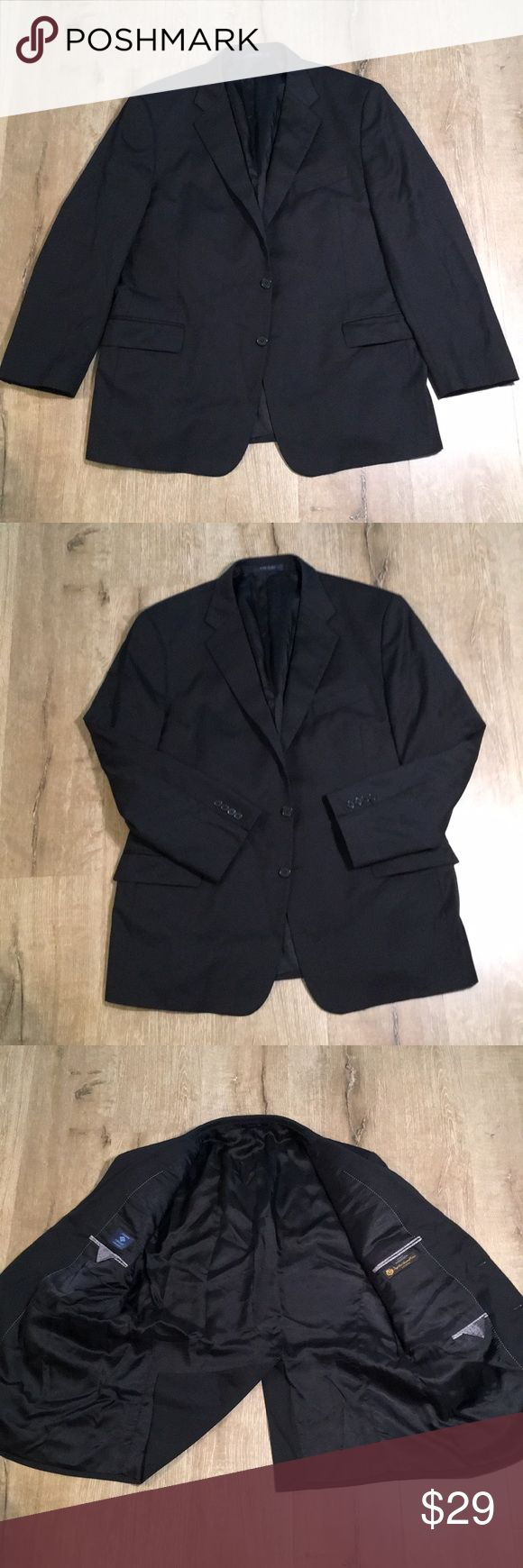 """ANWOT 48L Joseph Abboud Nordstrom Blazer 💰💰 25.5"""" Shoulder to wrist. 32"""" collar to hem.  26"""" underarm to underarm. Gorgeous fabric and stylish cut.  Luxury brand.  Almost new without tags. No signs of wear Nordstrom Suits & Blazers Sport Coats & Blazers"""