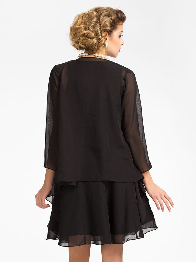 3/4 mouwen van chiffon avond / bruiloft wrap / avond jas (meer kleuren) bolero schouderophalen - USD $ 25.99