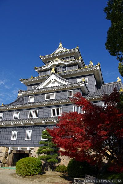 Japanese castles I've visited: #74 Okayama Castle in Okayama Prefecture. It's right next to the beautiful Korakuen Garden. One of the castles I've visited several times (last time in November 2012).