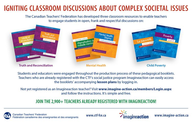 Igniting Classroom Discussions About Complex Societal Issues - Free lessons plans available on CTF's social justice program Imagineaction : http://www.imagine-action.ca/members/Login.aspx