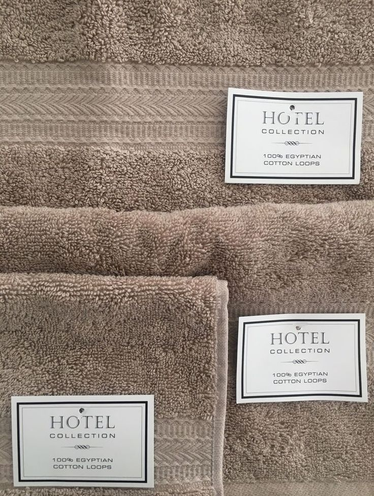 Hotel Collection Towels Set Of 3 Hand U0026 Wash 100% Egyptian Cotton Loops. Badezimmer  BadÄgyptischer ...