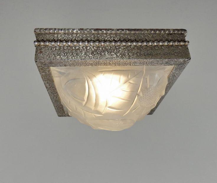 Deco Flush, Wonderful Ceiling, Deco Age, Designed Well, Art Deco Lighting, Flush  Mounts, French Art, Ceiling Light, Wrought Iron