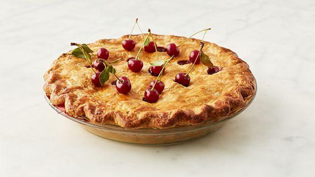Make Martha Stewart's Sour Cherry Pie recipe featured on Martha Bakes on PBS.