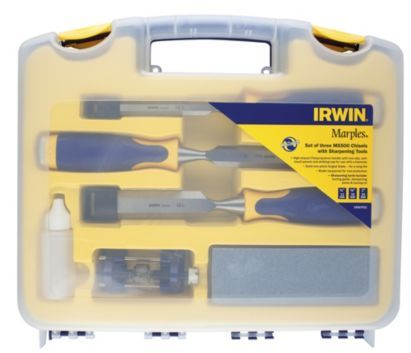 Irwin Marples 3pc Chisel Set And Sharpening Set, 10507931