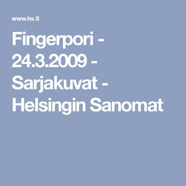 Lumen luominen. Fingerpori - 24.3.2009 - Sarjakuvat - Helsingin Sanomat