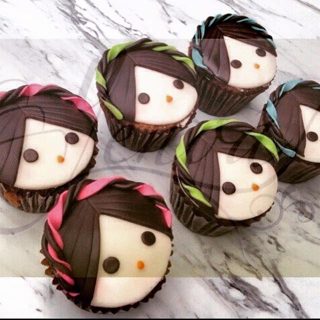Cupcakes muñeca de trapo