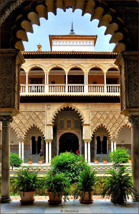 The Patio de las Doncellas - Seville, Spain