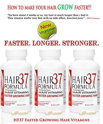 Hair Formula 37 ADVANCED Fast Hair Growth Vitamins Vegetarian Capsules 3 month supply Faster Growing Hair | Healthy Hair Growth | Biotin for Hair |