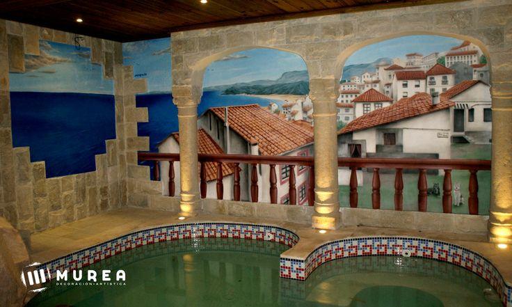 Mural para Spá urbano, más trabajos en: http://murea.es/decorativos-y-exteriores/