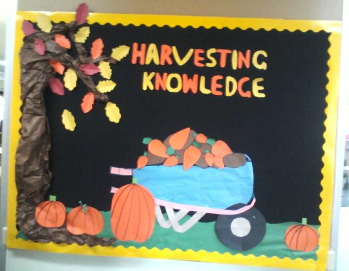 Harvesting Knowledge! - Halloween Bulletin Board